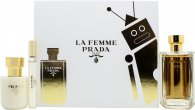 Prada La Femme Gift Set 100ml EDP + 100ml Body Lotion + 10ml Rollerball EDP
