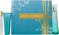 Adolfo Dominguez Agua de Bambu Gift Set 3.4oz (100ml) EDT Spray + 0.7oz (20ml) EDT + 2.5oz (75ml) Body Lotion
