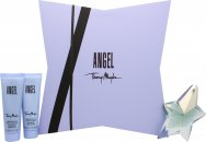 Thierry Mugler Angel Set de Regalo 25ml EDP + 50ml Loción Corporal + 50ml Gel de Ducha