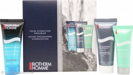 Biotherm Homme Aquapower Gift Set 40ml Cleansing Gel + 40ml Shower Gel + 20ml Aquapower Hydrating Face Cream