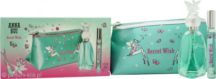 Anna Sui Secret Wish Gift Set 50ml EDT + 10ml EDT Rollerball + Pouch