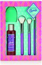 Sunkissed Cleanse Away Gift Set 4.1oz (120ml) Brush Cleansing Gel + 3 x Makeup Brushes + Brush Cleansing Pad