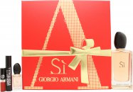 Giorgio Armani Si Presentset 100ml EDP + 7ml Mascara + Mini Lip Gloss