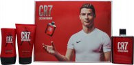 Cristiano Ronaldo CR7 Set Regalo 100ml EDT + 150ml Gel Doccia + 100ml Balsamo Dopobarba