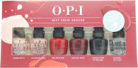 OPI Best Crew Aboard Nail Polish Gift Set 6 Colors