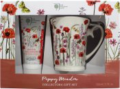 Bronnley Poppy Meadow Gift Set 100ml Hand Cream + Mug