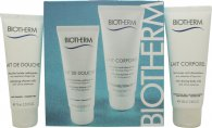 Biotherm Aquasource Gift Set 100ml Lait Corporel + 75ml Lait De Douche