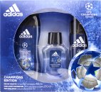 Adidas UEFA Champions League 4 Gift Set 50ml EDT + 150ml Deodorant Spray + 250ml Hair & Body Wash
