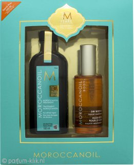 Moroccanoil 10 Year Anniversary Geschenkset 100ml Treatment + 50ml Dry Body Oil