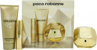 Paco Rabanne Lady Million Confezione Regalo 80ml EDP + 10ml EDP + 100ml Lozione Corpo