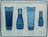 Davidoff Cool Water Woman Gift Set 50ml EDT + 75ml Body Lotion + 75ml Shower Gel + 15ml EDT