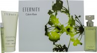 Calvin Klein Eternity Gift Set 100ml EDP + 200ml Body Lotion + 10ml EDP