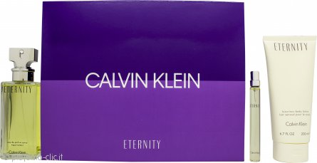Calvin Klein Eternity Set Regalo 100ml EDP + 200ml Lozione Corpo + 10 EDP