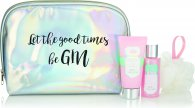 Style & Grace Gin Fizz Good Times & Gin Gift Set 100ml Body Lotion + 100ml Body Wash + Shower Flower + Cosmetic Bag