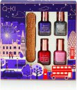 Q-KI Mini Manicure Set Gift Set 4 x 8ml Nail Polish + Glitter Nail File