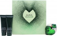 Thierry Mugler Aura Gift Set 1.0oz (30ml) EDP + 1.7oz (50ml) Body Lotion + 1.7oz (50ml) Shower Gel