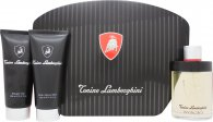 Lamborghini Invincibile Gift Set 4.2oz (125ml) EDT + 5.1oz (150ml) Shower Gel + 5.1oz (150ml) Aftershave Balm