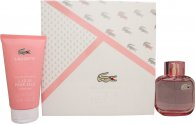 Lacoste Eau de Lacoste L.12.12 Pour Elle Sparkling Gift Set 3.0oz (90ml) EDT + 5.1oz (150ml) Shower Gel