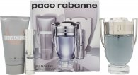 Paco Rabanne Invictus Set Regalo 100ml EDT + 75ml Gel Doccia + 10ml EDT