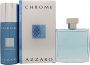 Azzaro Chrome Gavesæt 100ml EDT + 150ml Deodorant Spray