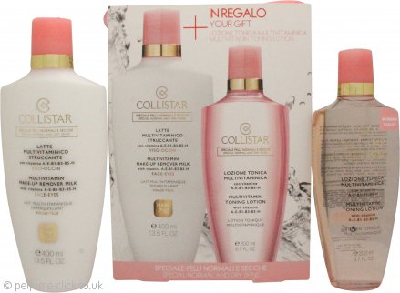 Collistar Multivitamin Gift Set 400ml Multivitamin Make-Up Remover Milk + 200ml Multivitamin Toning Lotion