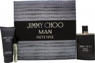 Jimmy Choo Man Intense Gavesæt 100ml EDT + 100ml Aftershave Balm + 7.5ml EDT