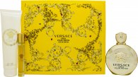 Versace Eros Pour Femme Gift Set 100ml EDP + 150ml Body Lotion + 10ml EDP Roller Ball