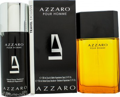 Azzaro Pour Homme Gift Set 100ml EDT + 150ml Deodorant Spray