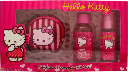 Hello Kitty Pink Love Set Regalo 15ml EDT + 50ml Gel Doccia + Portamonete