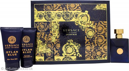 Versace Pour Homme Dylan Blue Gift Set 50ml EDT + 50ml Aftershave Balm + 50ml Perfumed Bath & Shower Gel