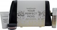 bareMinerals Your Perfect Picks Gift Set 15ml Primer + 0.75g Puder  + 25ml Serum + Kosmetyczka