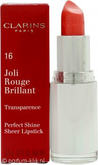 Clarins Joli Rouge Brilliant Perfect Shine Sheer Lipstick 3.5g - 03 Pink Coral