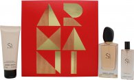 Giorgio Armani Si Gift Set 100ml EDP + 75ml Body Lotion + 15ml EDP