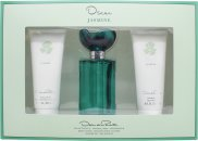 Oscar de la Renta Jasmine Gechenkset 100ml EDT + 100ml Dusch Gel + 100ml Body Lotion