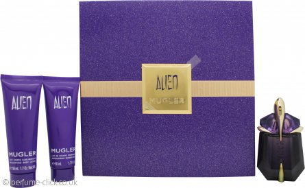 Thierry Mugler Alien Gift Set 30ml EDP + 50ml Body Lotion + 50ml  Shower Milk