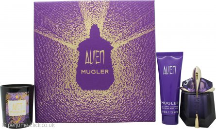 Thierry Mugler Alien Gift Set 30ml EDP + 50ml Body Lotion + 70g Candle