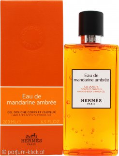 Hermes Eau de Mandarine Ambrée Hair & Body Shower Gel 200ml