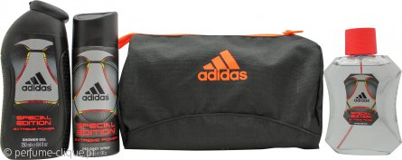 Adidas Extreme Power Special Edition Gift Set 100ml EDT Spray + 150ml Deodorant Spray + 250ml Shower Gel + Toiletry Bag