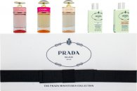 Prada Women Miniature Gift Set 8ml Infusion d'Iris EDP Fleur d'Oranger + 8ml Infusion d'Iris EDP + 7ml Prada Candy EDP + 7ml Prada Candy L'Eau EDT + 7ml Prada Candy Florale EDT