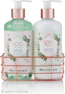 Style & Grace Spa Botanique Luxury Hand Care Geschenkset 280ml Hand Wash + 280ml Hand Lotion + Metallic Basket