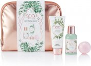 Style & Grace Spa Botanique Cosmetic Bag Gift Set 100ml Body Wash + 100ml Body Lotion + 55g Bath Fizzer + Cosmetic Bag