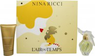 Nina Ricci L'air Du Temps Gift Set 1.0oz (30ml) EDT + 2.5oz (75ml) Body Lotion