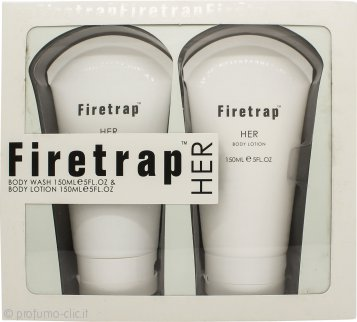 Firetrap For Her Set Regalo 150ml Bagnodoccia + 150ml Lozione Corpo