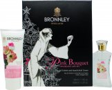 Bronnley Pink Bouquet Set de regalo 50ml EDT + 100ml Hand Cream