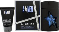 Thierry Mugler A*Men Gift Set 100ml EDT Refillable + 50ml Shower Gel