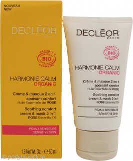 Decleor Harmonie Calm Soothing Comfort 2 in 1 Cream & Mask 50ml