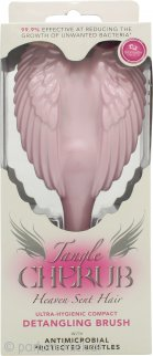 Tangle Angel Cherub Detangling Brush With Antimicrobial Bristles - Pink