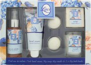 Taylor of London Lace Gift Set 2.5oz (75ml) EDT + 2.5oz (75ml) Hand Cream + 50g Soap + 60g Candle