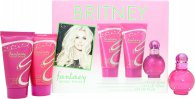 Britney Spears Fantasy Gift Set 15ml EDP + 50ml Shower Gel + 30ml Body Souflee