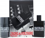 Zadig & Voltaire This is Him Gift Set 50ml EDT + 75g Dezodorant w Sztyfcie